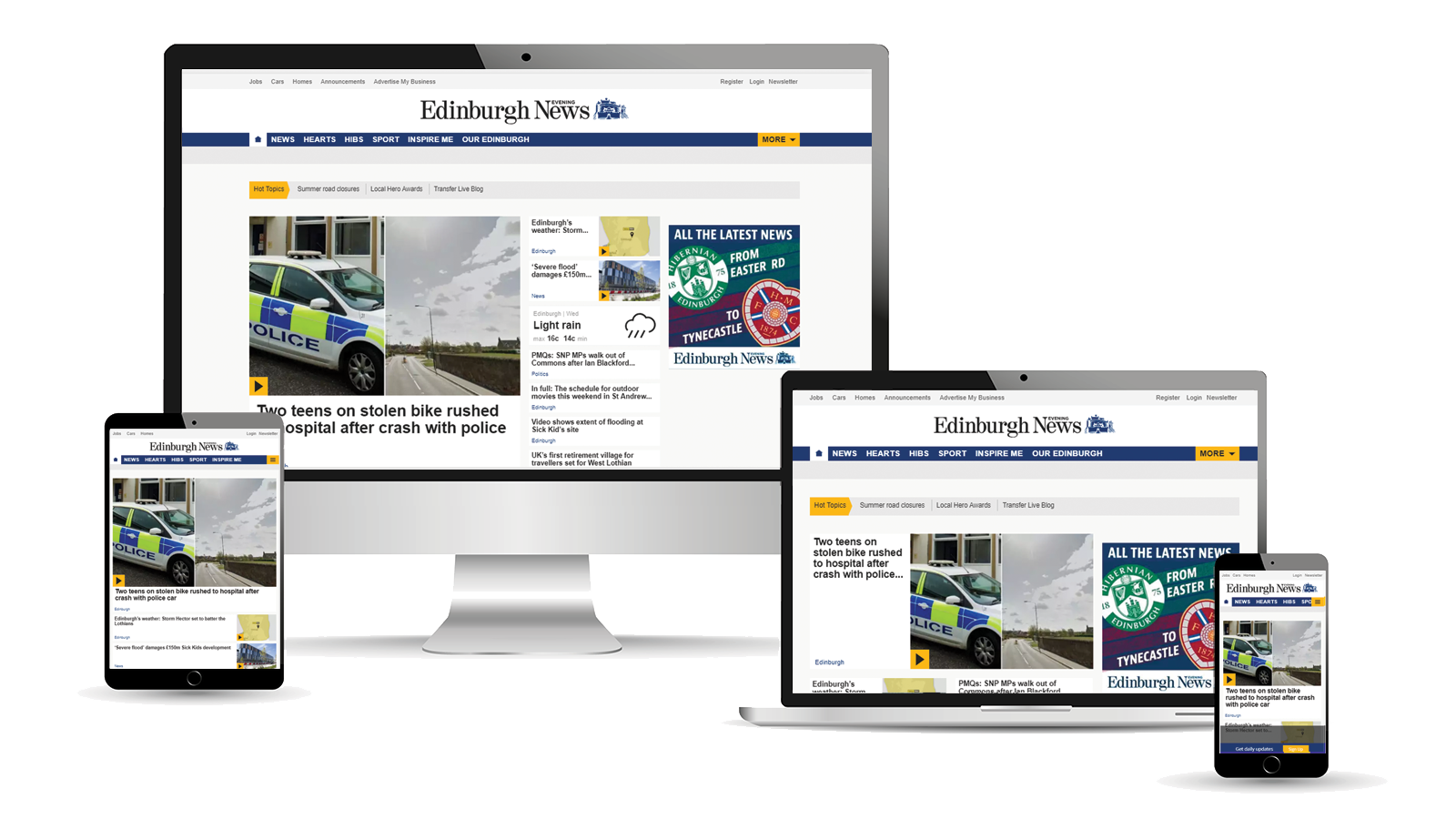 Advertise across desktop, tablet and mobile with The Edinburgh Evening News