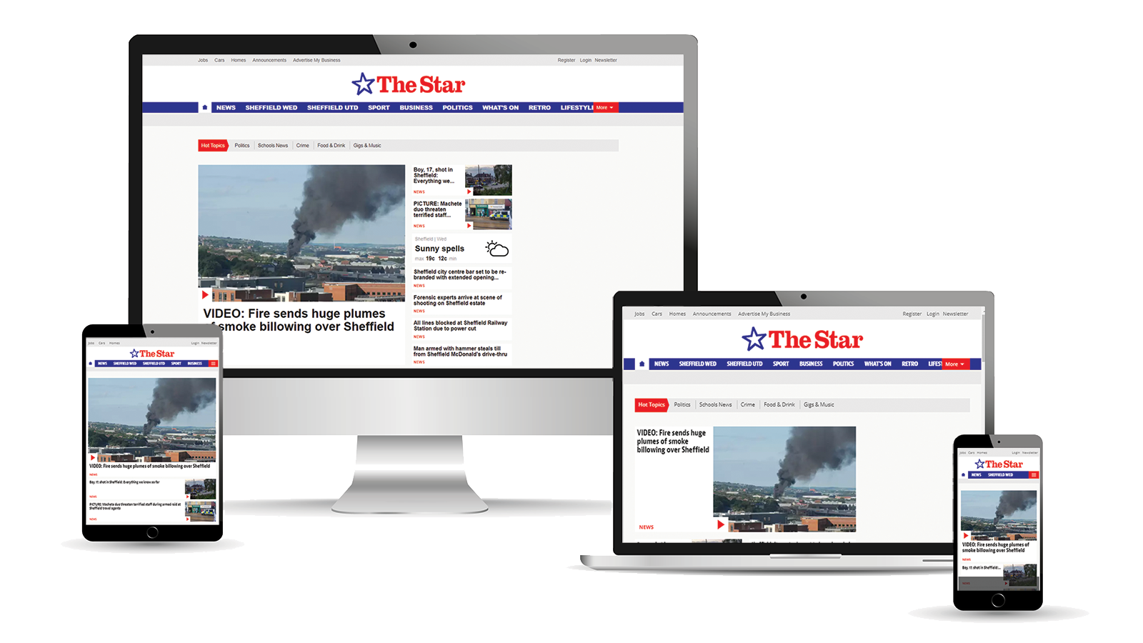 Advertise across desktop, tablet and mobile with The Sheffield Star